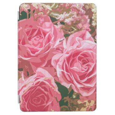 Elegant Pink Roses in Bloom   iPad Air Case
