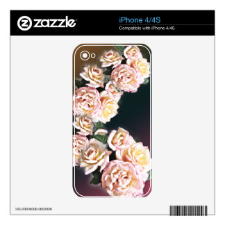 Elegant Pink Roses Zazzle Skin for iPhone 4/4s Decals For iPhone 4S