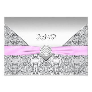 Elegant Pink RSVP Card Personalized Invitation