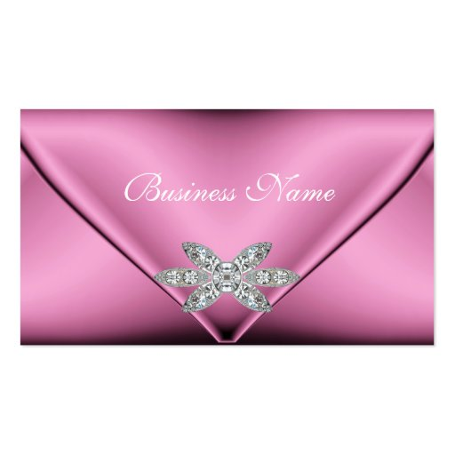 Elegant pink silver diamond jewel business cards for Cheep business cards
