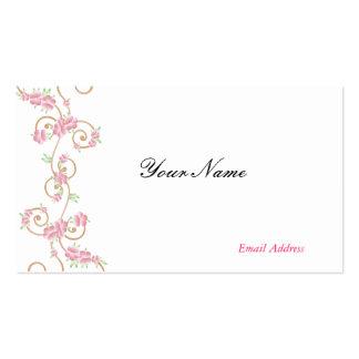 Elegant Pink Swirls Business Cards