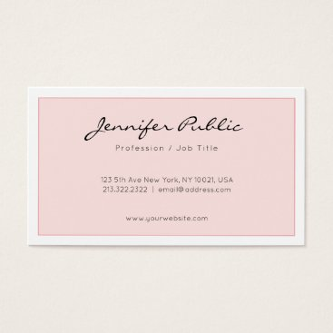 Wedding Themed Elegant Pink Trendy Professional Minimalist Design Business Card
