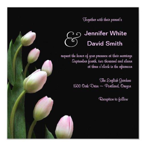 ELegant Pink Tulip Wedding Invitation Zazzle