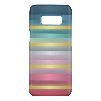 Elegant Pink Turquoise Gold Stripes Case-Mate Samsung Galaxy S8 Case