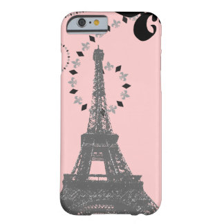 elegant pink vintage paris eiffel tower iPhone 6 c Barely There iPhone 6 Case