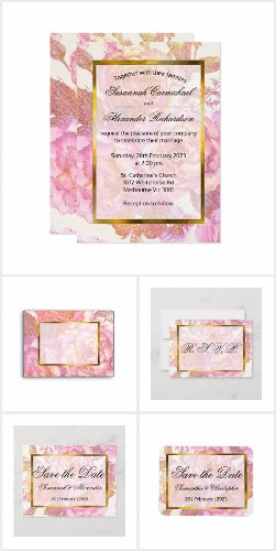 Elegant Pink Watercolor Flowers