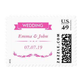 Elegant Pink Wedding Postage
