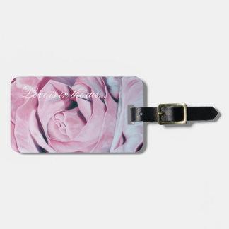 Elegant Pink Wedding Roses Luggage Tag