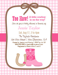 western theme invitations zazzle