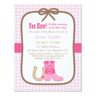 elegant_pink_western_theme_baby_shower_invitations rca9a42cc59944d1dac139e73846e41aa_zk91q_324?rlvnet=1 western theme baby shower invitations & announcements zazzle,Baby Shower Invitations Cowboy Theme