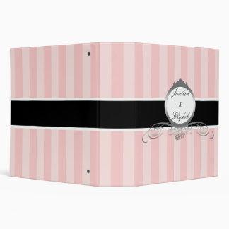 Elegant Pink, White, & Black Vinyl Binders