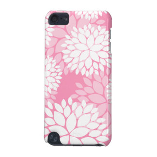Elegant Pink White Flowers iPod Touch 5G Cover