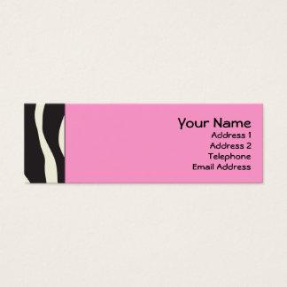 Elegant Pink Zebra Skinny Profile Cards