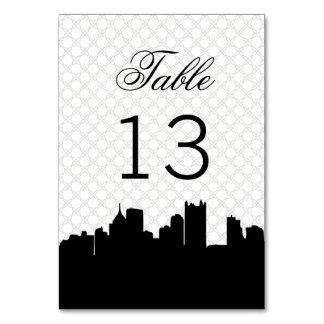 Elegant Pittsburgh Black and White Lace Wedding Card