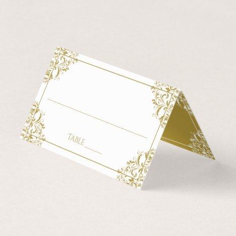 Elegant Place Card Tent Cards - Nadine (Gold)
