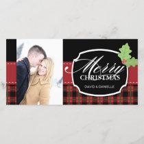 Elegant Plaid Christmas Photo Card