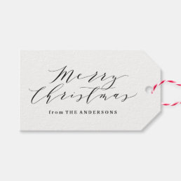 Elegant Plaid in Gray | Holiday Gift Tags