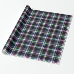 Elegant plaid with colorful stripes gift wrap paper