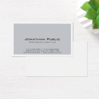 Elegant Plain Creative Grey White Design Modern Business Card
