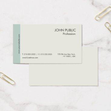 Lawyer Themed Elegant Plain Modern Professional Green and Beige Business Card