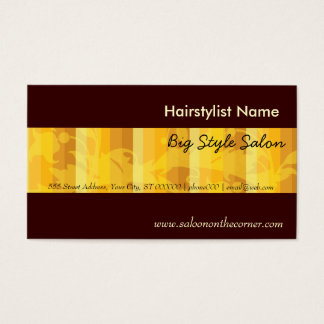 Elegant Plain Salon Hair Stylist Gold Business Card