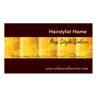 Elegant Plain Salon Hair Stylist Gold Double-Sided Standard Business Cards (Pack Of 100)