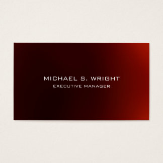 Elegant Plain Simple Red White Professional Business Card