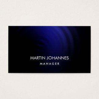 Elegant Plain Stylish Blue Black Business Card