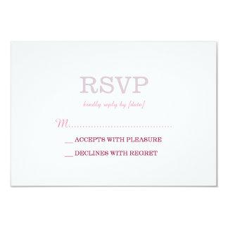Elegant Plain White Lavender RSVP 3.5x5 Paper Invitation Card