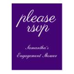 "[ Thumbnail: Elegant ""Please RSVP"" Postcard ]"