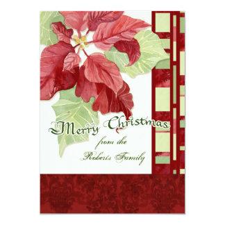 Elegant Poinsettia Christmas Party Invitation
