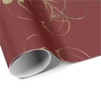 Elegant Poinsettia Floral Christmas Craft Paper
