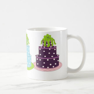 Elegant Polka Dot Cakes Coffee Mug