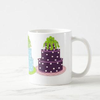 Elegant Polka Dot Cakes Mugs