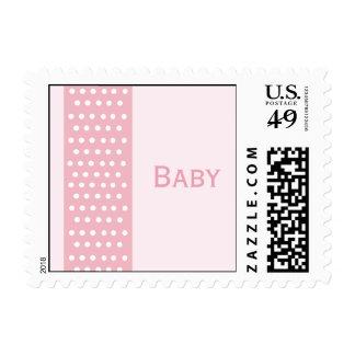 Elegant Polka Dot Custom Postage (pink)