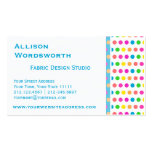 Elegant Polka Dot Designer Fun Polka Dots Double-Sided Standard Business Cards (Pack Of 100)