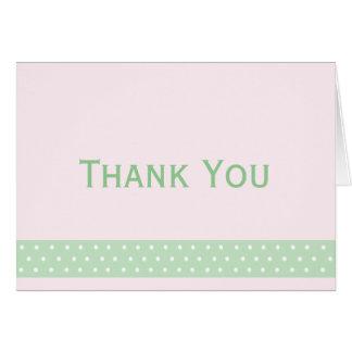 Elegant Polka Dot Thank You Note (pink candy) Card