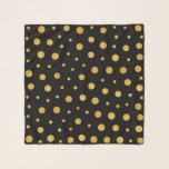 "Elegant polka dots - Black Gold Scarf<br><div class=""desc"">Design by LEMAT WORKS https://zazzle.com/lematworks*/collections https://lematworks.myportfolio.com</div>"