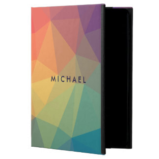Elegant polygonal triangle colored add your name powis iPad air 2 case