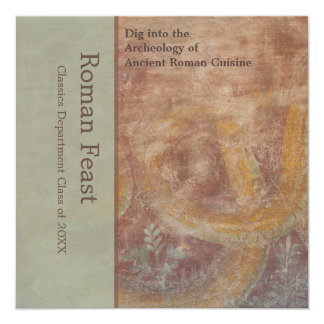 Elegant Pompeii Reds, Greens Roman Feast Card