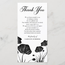 Elegant Poppies | Sympathy Thank You