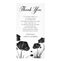Elegant Poppies | Sympathy Thank You Card