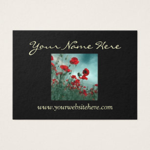 2 sided business cards templates zazzle elegant poppy 2 sided business card wajeb Image collections