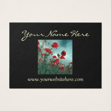 Professional Business Elegant Poppy 2 Sided Business Card