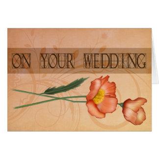 Elegant Poppy Wedding Card