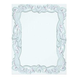 Elegant Powder Blue Framed Letterhead