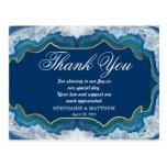 Elegant Pretty, Blue & Teal Geode Pattern Postcard