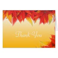Elegant, pretty fall wedding favor thank you greeting cards