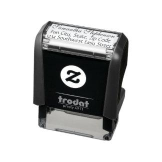 Elegant Pretty Script Custom Name Address Stamp