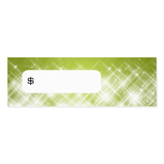Elegant Price Tag Glamorous Sparks Lime Double-Sided Mini Business Cards (Pack Of 20)